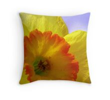 The Joyful Jonquil Throw Pillow