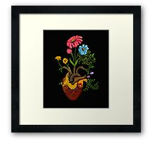 Harvest Peace, Grow Love - Bee Here Now Framed Print