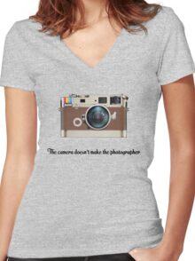 Leica Instagram camera Women's Fitted V-Neck T-Shirt