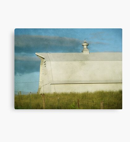 Barn Faux Oil Painting Canvas Print