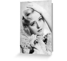 The Actress (The Vintage Range By Afterglow Cards And Prints) Greeting Card