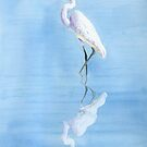 Great Egret In Reflection by arline wagner