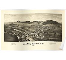 Panoramic Maps Valley Falls NY 1887 Poster