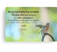 Bird have a  way of putting things into perspective . . . Canvas Print