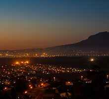 Gordons bay at night by Rudi Venter