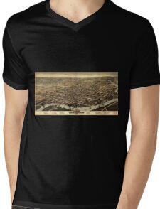 Panoramic Maps Wilmington Del 1874 Mens V-Neck T-Shirt
