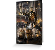 Knights Charge Greeting Card