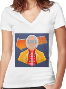 Great Scott! Women's Fitted V-Neck T-Shirt
