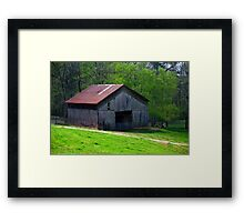 Ventillated Barn on Red Clay Road Framed Print