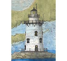 Saybrook Lighthouse CT Nautical Chart Cathy Peek Photographic Print