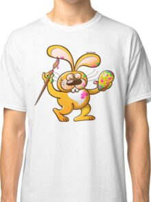 Easter Bunny Painting an Egg Classic T-Shirt