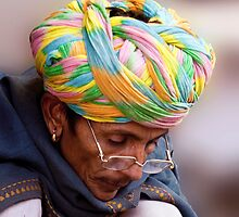 Multi Colored Turban by phil decocco