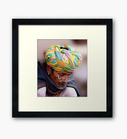 Multi Colored Turban Framed Print