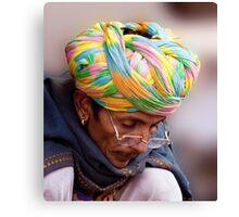 Multi Colored Turban Canvas Print