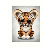 Cute Baby Tiger Cub  Art Print
