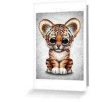 Cute Baby Tiger Cub  Greeting Card
