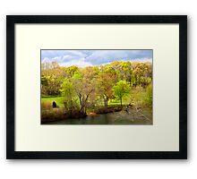 The Riverbank in Springtime Framed Print