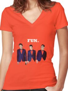 FUN. 3 Women's Fitted V-Neck T-Shirt