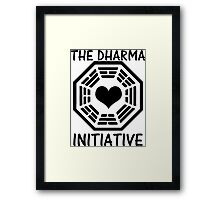 DHARMA INITIATIVE Framed Print