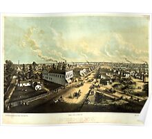 Panoramic Maps Oshkosh Wisconson Poster