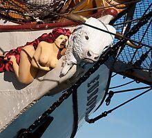 The Figurehead of the Dutch Tall Ship Europa by Gerda Grice