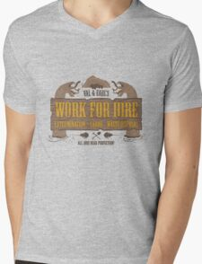 Val & Earl's Work for Hire Mens V-Neck T-Shirt