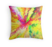 Psychedelic Abstract Watercolour Art Throw Pillow