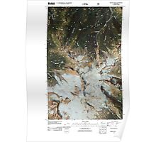 USGS Topo Map Washington State WA Mount Baker 20110425 TM Poster