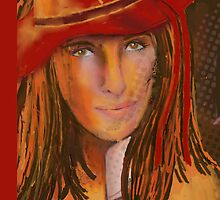 Woman In The Red Hat by arline wagner