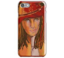 Woman In The Red Hat iPhone Case/Skin