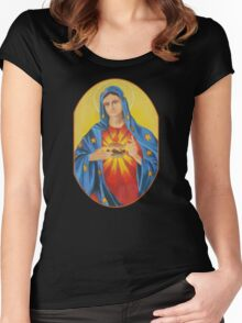 Our Lady of the Six Dollar Burger Women's Fitted Scoop T-Shirt