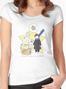 Le Petit Consulting Detective - French Women's Fitted Scoop T-Shirt
