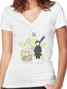 Le Petit Consulting Detective - French Women's Fitted V-Neck T-Shirt