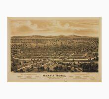 Panoramic Maps Bird's eye view of Santa Rosa Sonoma County Cal 1876 One Piece - Short Sleeve