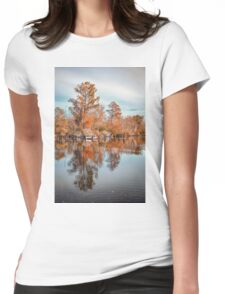 Autumn Foliage Landscape Womens Fitted T-Shirt
