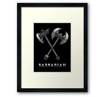 Barbarian Axes  Framed Print