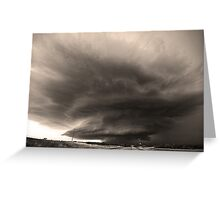 The O'dell Supercell- Black and White Greeting Card