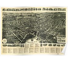 Panoramic Maps Middletown NY 1922 Poster