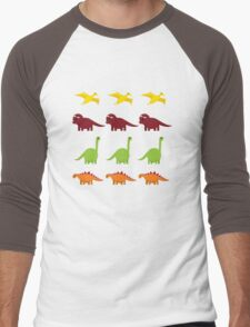 Cute Dinosaurs Men's Baseball ¾ T-Shirt