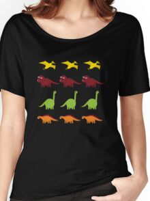Cute Dinosaurs Women's Relaxed Fit T-Shirt