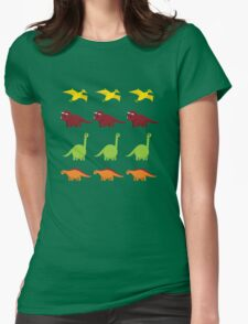 Cute Dinosaurs Womens Fitted T-Shirt