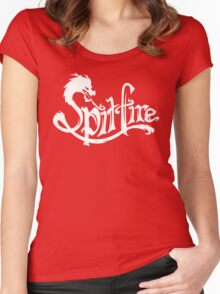 Spitfire (white version) Women's Fitted Scoop T-Shirt