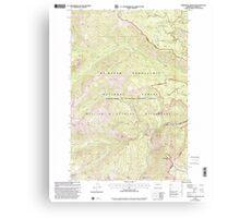 USGS Topo Map Washington State WA Timberwolf Mountain 244296 2000 24000 Canvas Print