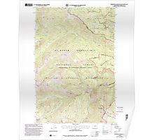 USGS Topo Map Washington State WA Timberwolf Mountain 244296 2000 24000 Poster