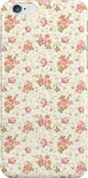 Pink Floral iPhone Case by Julian Machann