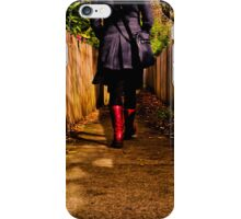 These boots are made for walking ... iPhone Case/Skin