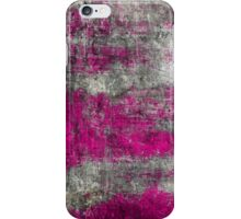 Scratched Metal - Hot Pink iPhone Case/Skin