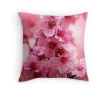 My Pink Peach Pit Throw Pillow