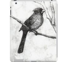 Black and White Cardinal Solar Print iPad Case/Skin