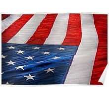 Americana - Flag - Stars and Stripes  Poster